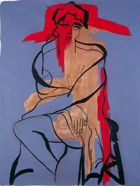 Louise - Acrylique sur toile 146 x 114 cm - 2002