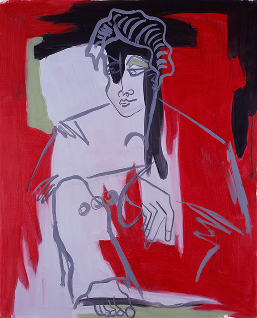 Ninon - Acrylique sur toile 130 x 97 cm - 2002