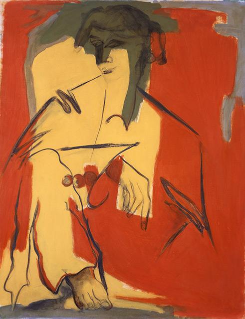 Maud - Aérosol sur toile 162 x 130 cm - 2002