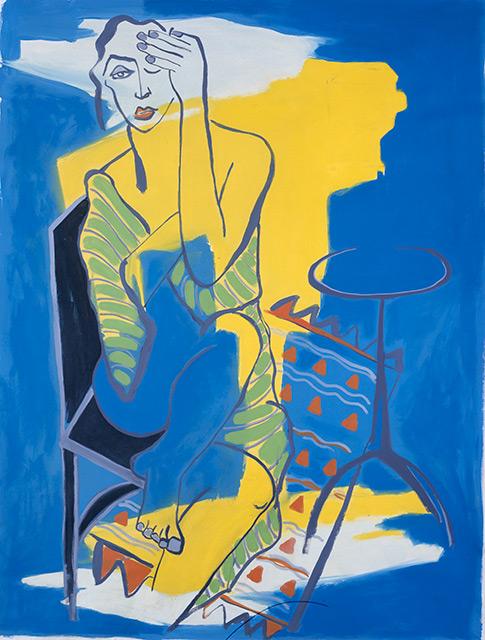 Barbara - Acrylique sur toile 146 x 114 cm - 2002