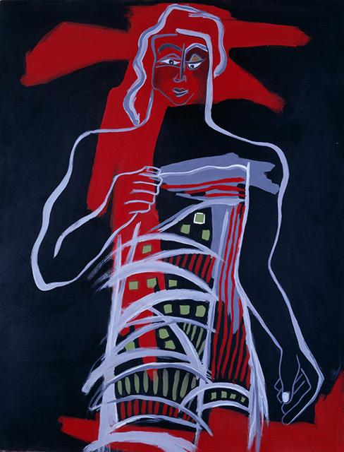 Max - Acrylique sur toile 146 x 114 cm - 2002