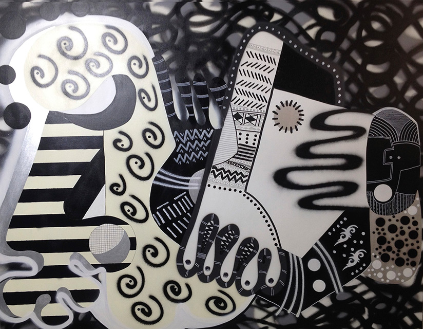OKINKA - Aérosol sur toile 162 x 130 cm - 2014
