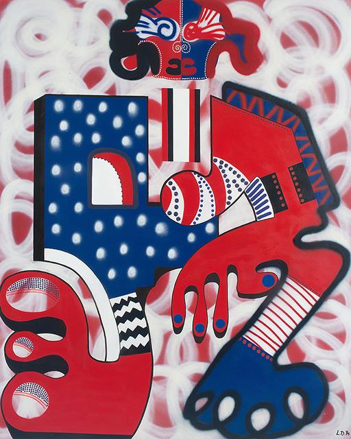 CASSIDY - Aérosol sur toile 162 x 130 cm - 2014