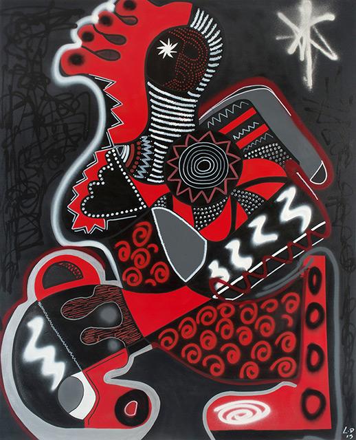 NYAMBURA - Aérosol sur toile 162 x 130 cm - 2014