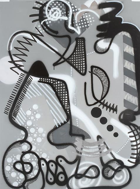 LIZZIE - Aérosol sur toile 130 x 97 cm - 2015
