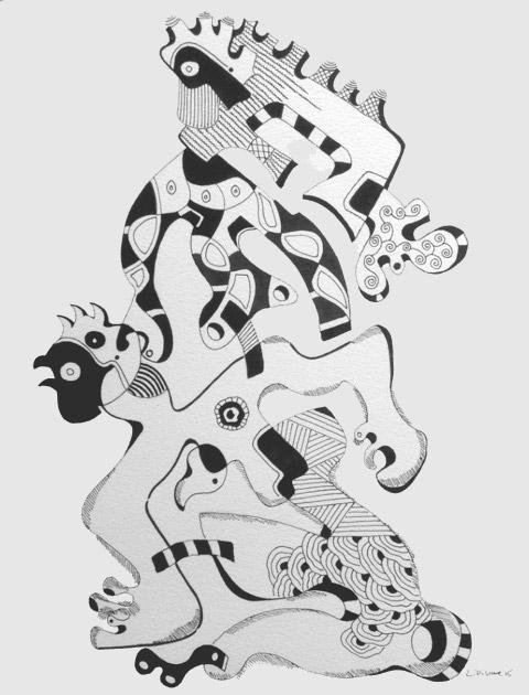 Série 0815/9 - Dessins au feutre noir 25 x 32,5 cm - 2015