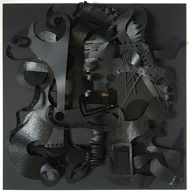 Noir&Noir - Papiers découpés 50 x 50 cm - 2015
