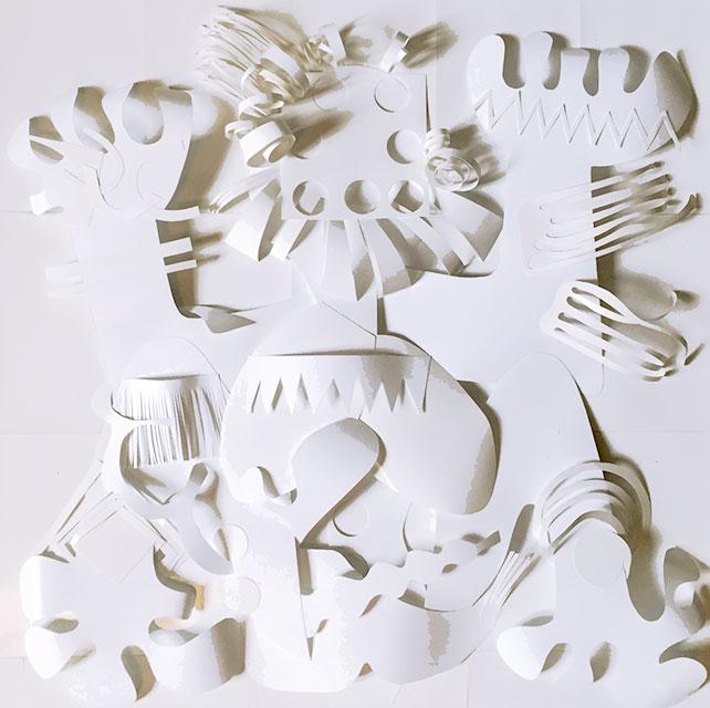 Gamol - Papiers découpés - 50 x 50 cm - 2015