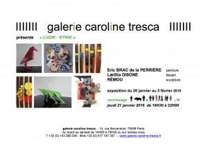 carton exposition à la galerie Caroline Tresca, Paris