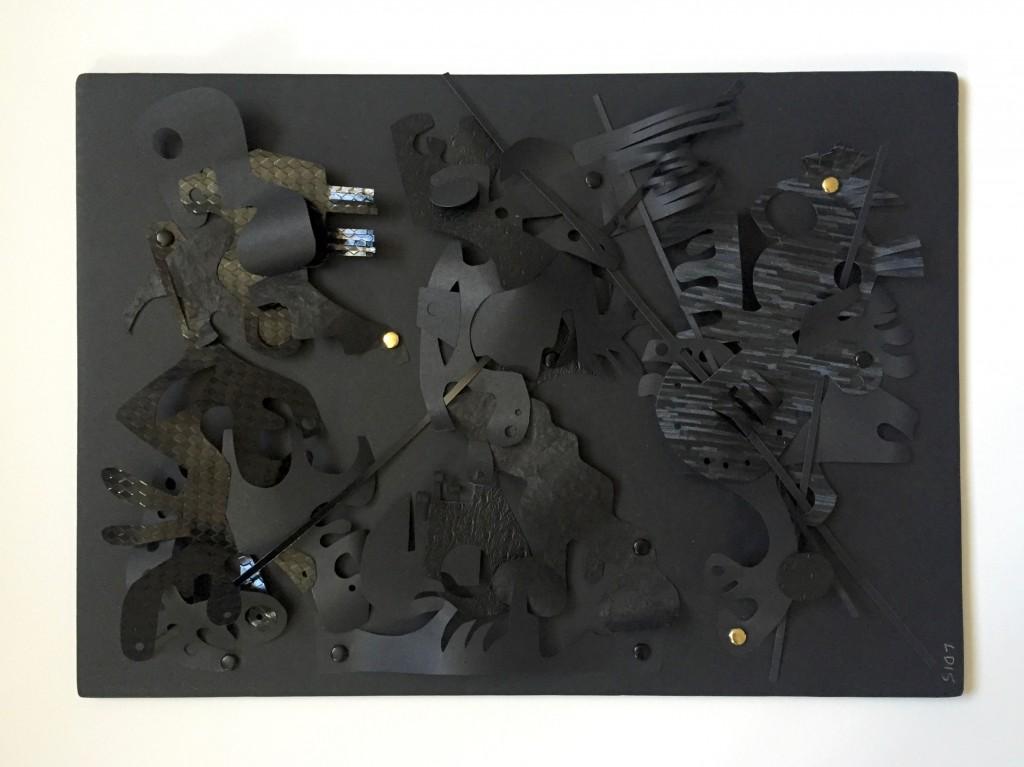 Série Noire IV - Papiers découpés - 30 x 42 cm - 2016