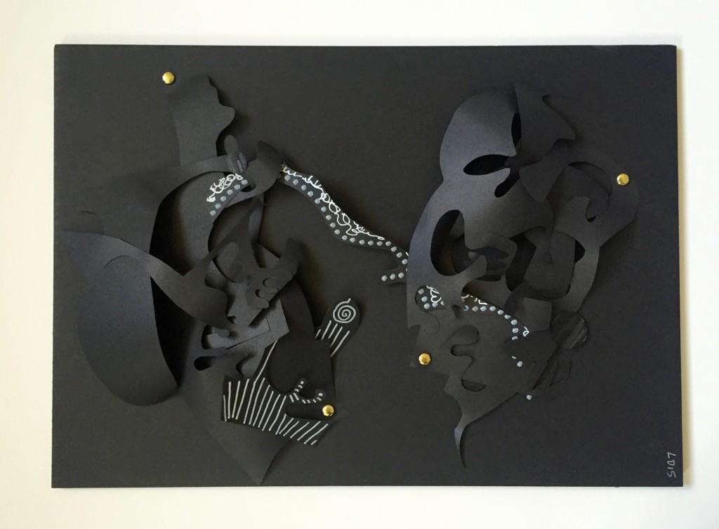 Série Noire III - Papiers découpés - 30 x 42 cm - 2016