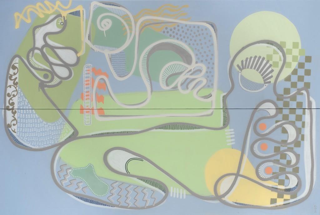 Admettons! - Aérosol sur toile - 100 x 150 - 2015