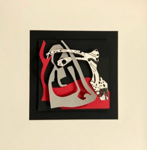 FLATLAND III - 03 - papiers découpés et encre noire - 2019 - 50 x 50 cm