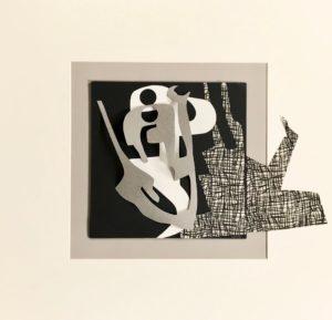 FLATLAND III - 05 - papiers découpés et encre noire - 2019 - 50 x 50 cm