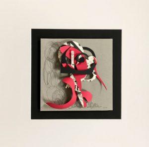 FLATLAND III - 02 - papiers découpés et crayons - 2019 - 50 x 50 cm