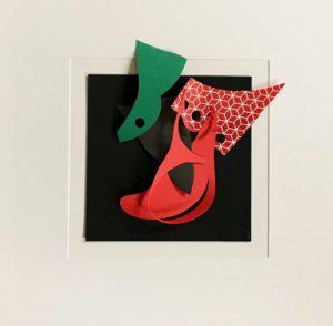 FLATLAND III - 01 - papiers découpés - 2019 - 50 x 50 cm