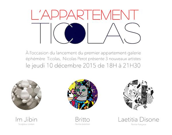 Laetitia Disone expose chez Ticolas