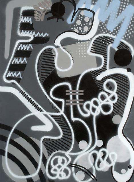 SOL - Aérosol sur toile 130 x 97 cm - 2015