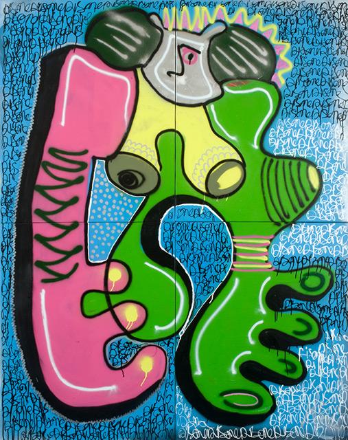 SARALA - Aérosol sur toile 184 x 146 cm - 2013