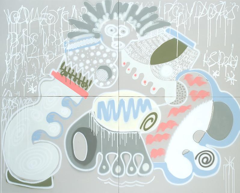 ANNAM - Aérosol sur toile 184 x 146 cm - 2013