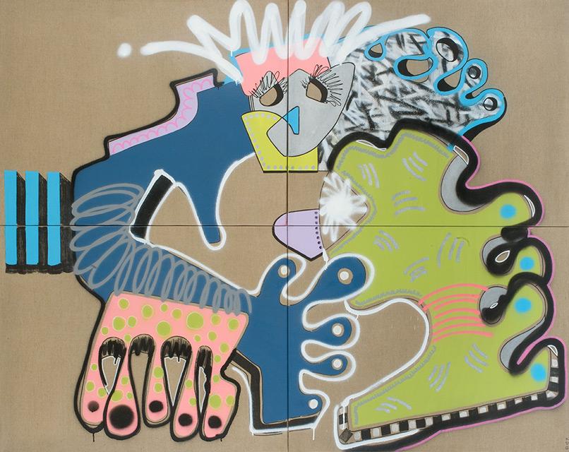 NAYAM - Aérosol sur toile 184 x 146 cm - 2013