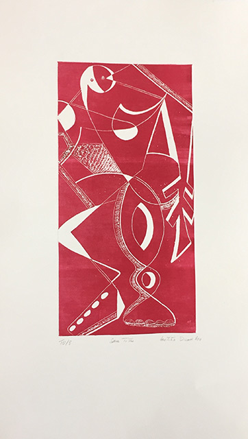 Le Pantin rouge - Gravure 50 x 65 cm - 2010