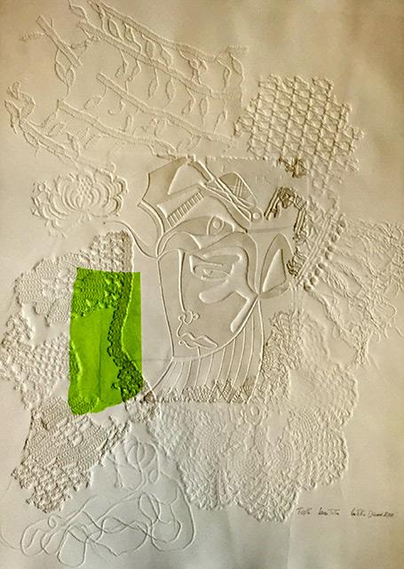 Impression - Gravure en gaufrage et chine collé 50 x 65 cm - 2011