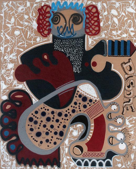 SHADE - Aérosol sur toile 162 x 130 cm - 2014