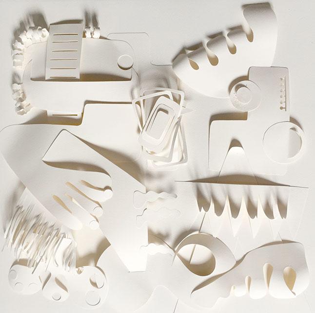 l'Africaine - Papiers découpés - 50 x 50 cm - 2015
