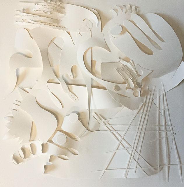 La Femme Amulette - Papiers découpés - 50 x 50 cm - 2015