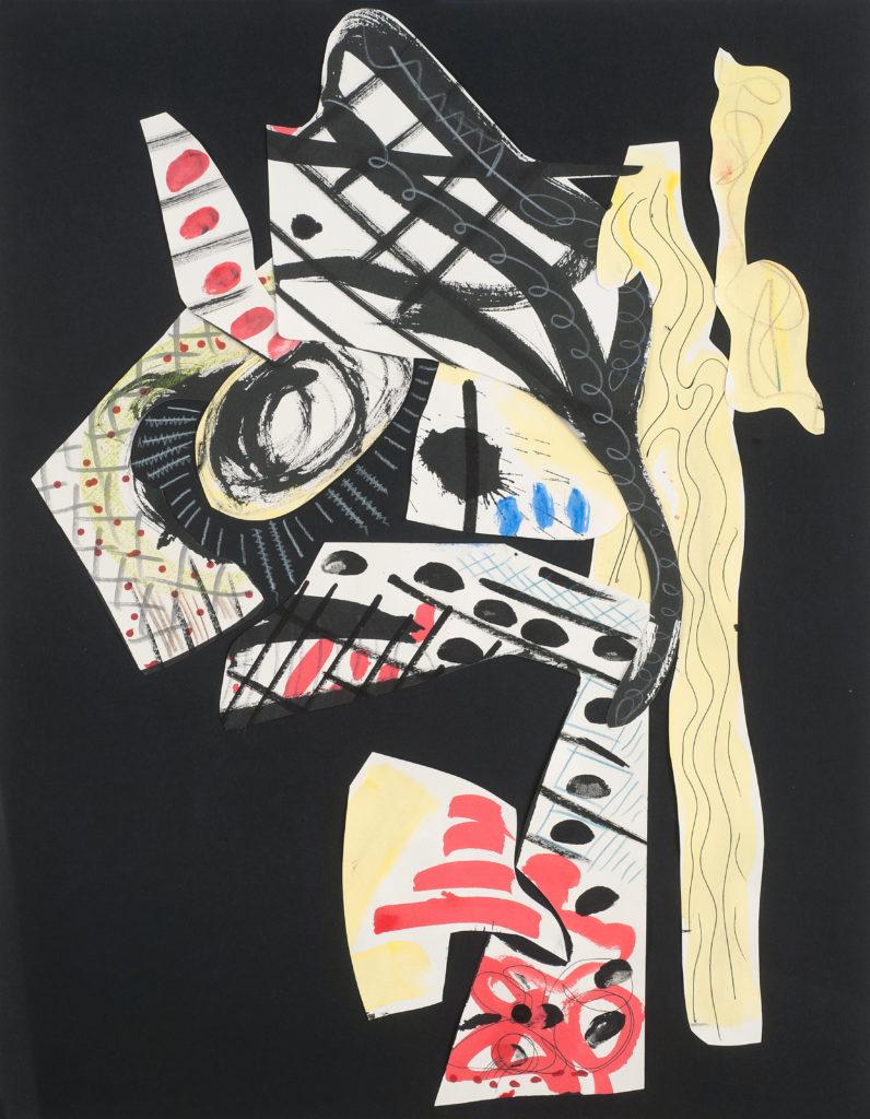 LA REINE DE SABA - collage de papiers découpés peints - 2019 - 65 x 50 cm
