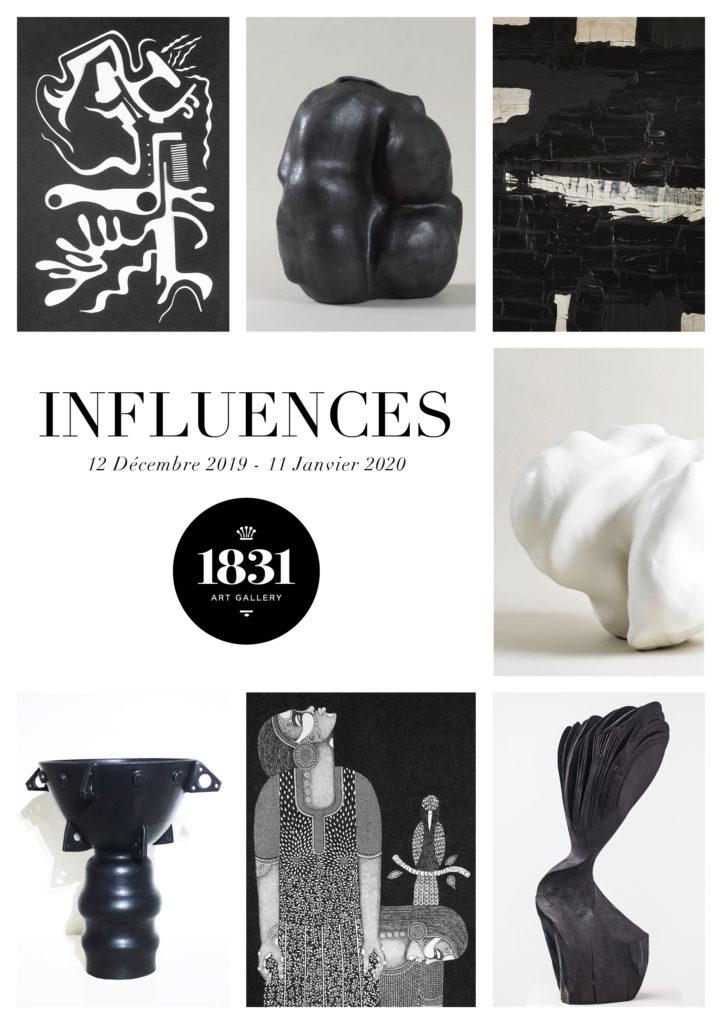 Exposition 'Influences' 1831 Art Gallery décembre 2019